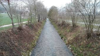 Das Dünnernbachbett soll saniert, aber nicht renaturiert werden. (Bild:18.12.2019)