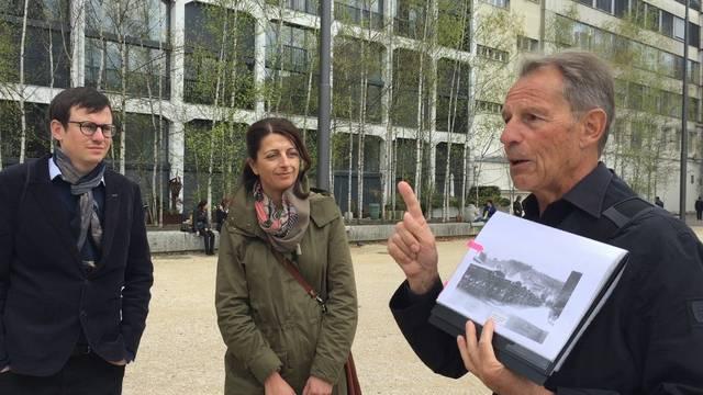 Mit Turbo-Stadtführer Fredy Hauser vor dem «Quadro» in der Trafohalle und auf dem Trafoplatz.