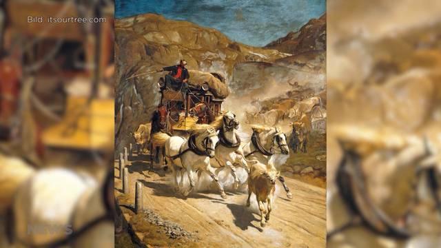 Gemälde Gotthardpost versteigert