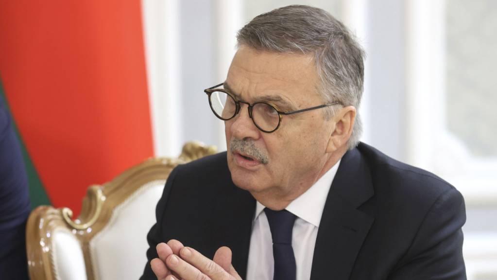 René Fasel trug Anfangs Woche seine Anliegen in Weissrussland vor.