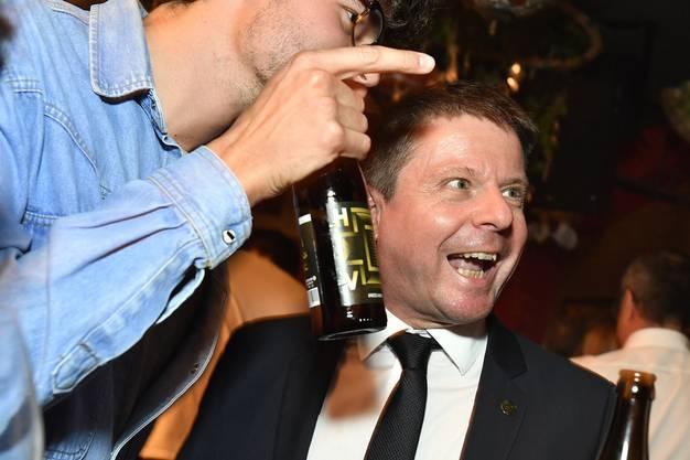 Nationalrat Martin Bäumle an der Wahlfeier der Grünliberalen.