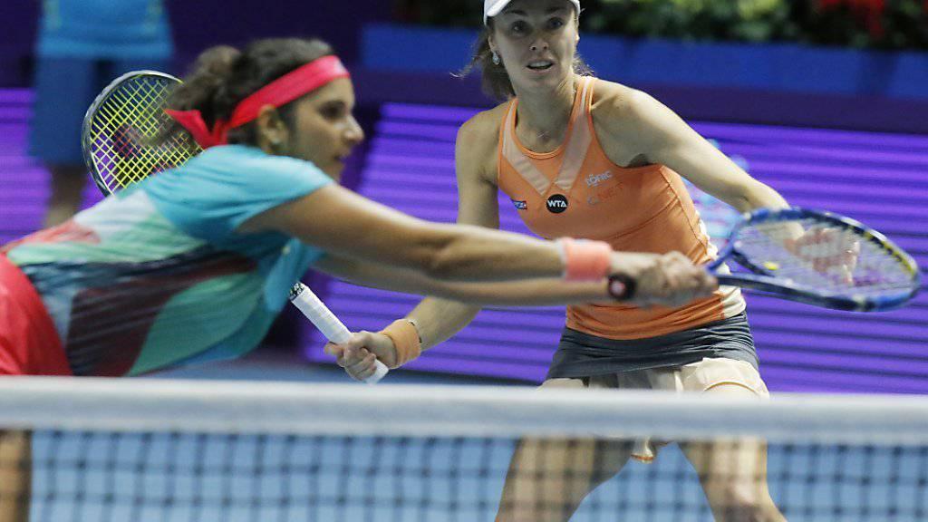 Martina Hingis (rechts) und Sania Mirza sind vom Erfolgsweg abgekommen