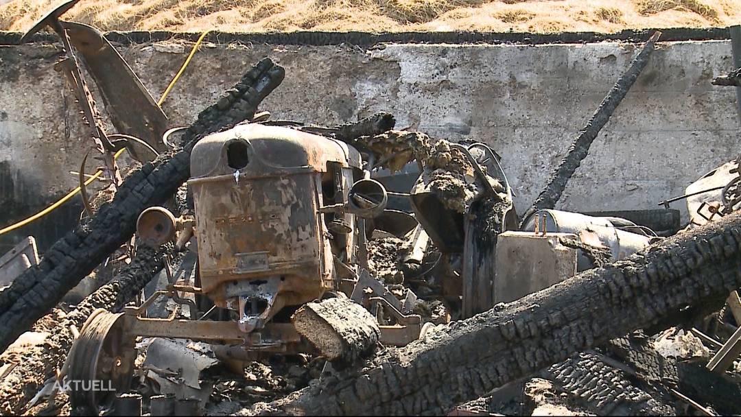 Über 100'000 Franken Schaden nach Schopf-Brand in Veltheim