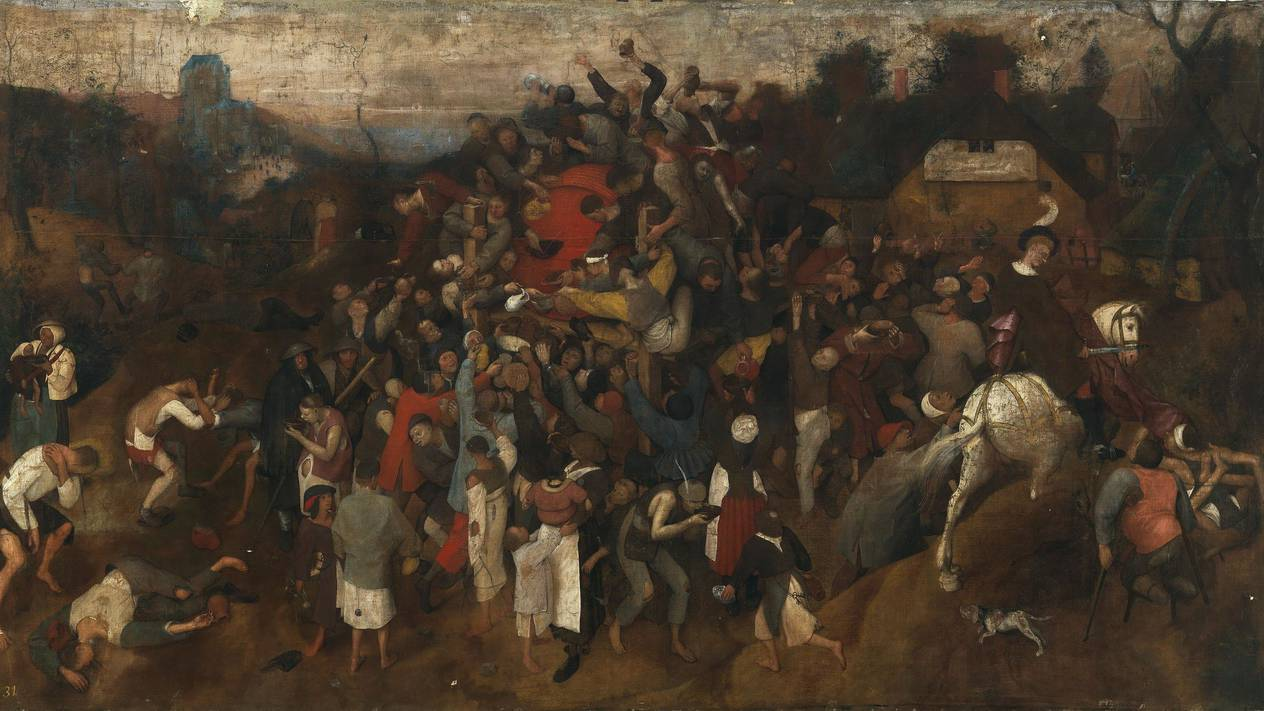 "The Wine of St. Martin's Day"" by Pieter Bruegel the Elder"