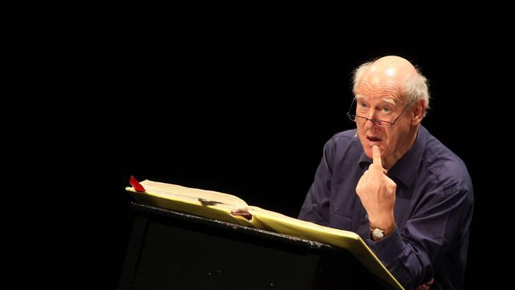 Franz Hohler ist immer wieder auf Oltner Bühne anzutreffen. Natürlich auch an den Oltner