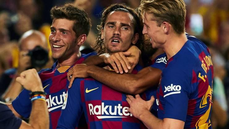 Antoine Griezmann schoss Barcelona mit zwei Toren auf die Siegesstrasse