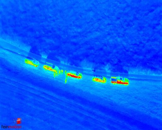Drohnen retten Rehkitze: Wärmebildaufnahmen