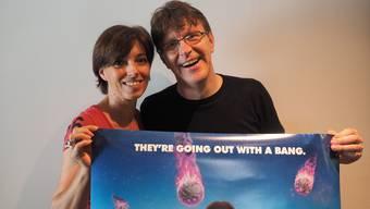 Freuen sich auf die Open-Air-Kino-Zeit: Martina Welti und Philipp Weiss von Fricks Monti. Thomas Wehrli