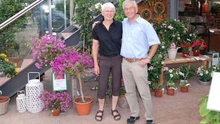 Lisebeth und Thomas Stöckli im Gartencenter am Kirchrain in Frick.