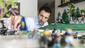 Torsten Bohner macht Figuren zum amerikanischen Bürgerkrieg
