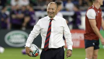 Englands Coach Eddie Jones vor dem gewonnenen WM-Halbfinal gegen Neuseeland