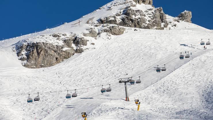 Hier stand Thomas Aeschi im Stau: Das Skigebiet Titlis oberhalb Engelberg, aufgenommen am 12. Dezember 2018. (KEYSTONE/Alexandra Wey)