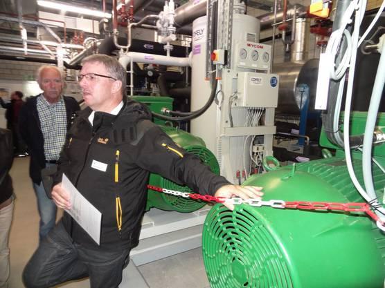 Betriebsleiter Adrian Wunderlin von der AEW Energie AG in Aarau