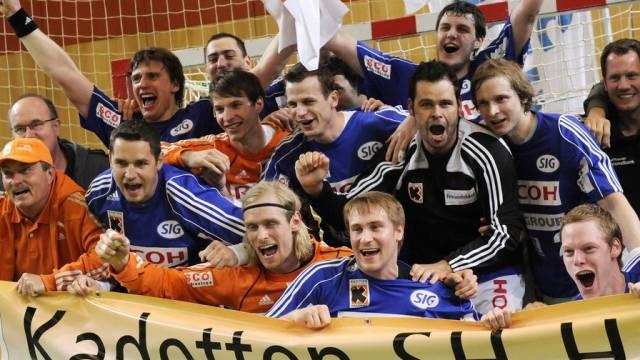 Neuer Modus in der Schweizer Meisterschaft (hier der Meister 2009/2010, Kadetten Schaffhausen)