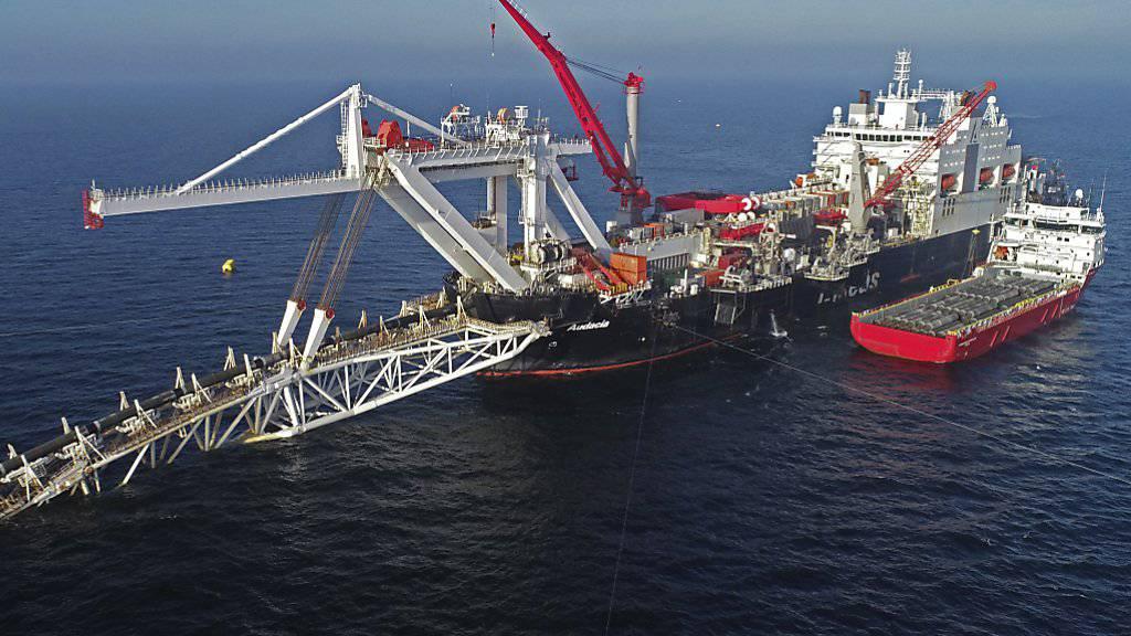 Bauarbeiten an der neuen Erdgasleitung Nord Stream 2 zwischen Russland und Deutschland im baltischen Meer. (Archivbild)