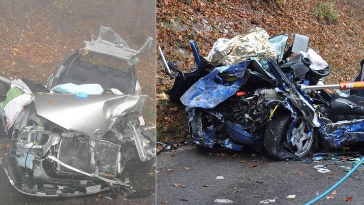 Beide Fahrer mussten aus ihren Fahrzeugen geborgen werden.