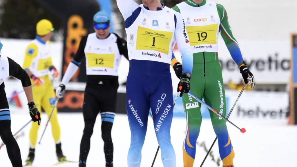 Im Zielsprint nicht zu bezwingen: Dario Cologna triumphierte zum 4. Mal am Engadin Skimarathon