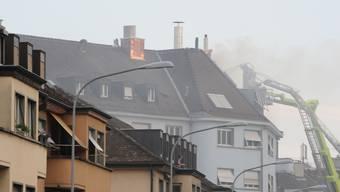 Dachstockbrand in Zürcher Enge-Quartier