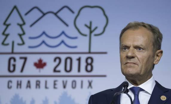 EU-Ratspräsident Donald Tusk gab bekannt, dass die EU weiterhin zur G7-Erklärung steht.