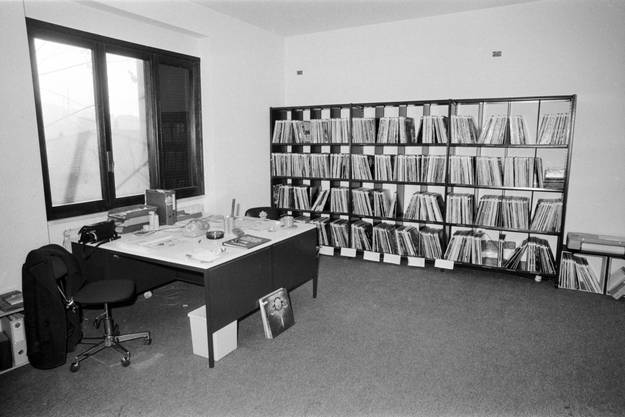 Radio 24 Studio in Cernobbio, Italien, 1980