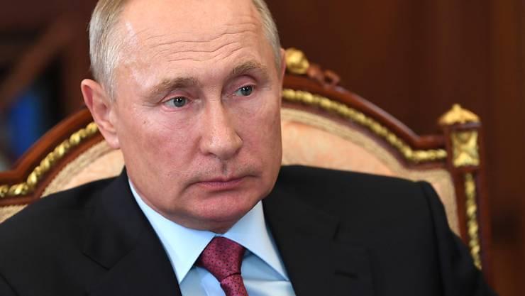 Wladimir Putin, Präsident von Russland, nimmt an einem Treffen im Kreml teil. Foto: Alexei Nikolsky/Pool Sputnik Kremlin/AP/dpa