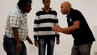 Sieben Asylanten führen in Aarau Theaterstück auf