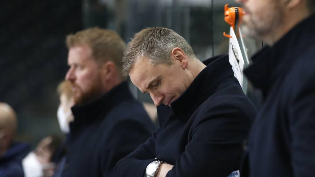 Zugs Cheftrainer Dan Tangnes erlebte in Bern ein aufwühlendes Spiel