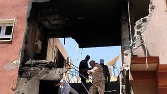 Aus Tripolis werden in der Nacht auf Sonntag erneut Kampfhandlungen mit Zerstörungen gemeldet. (Archivbild)