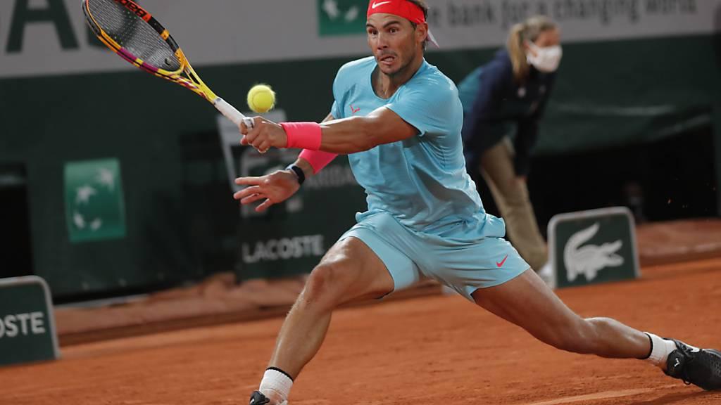 Zwei Sätze hart gefordert: Rafael Nadal setzte sich am Ende sicher gegen den italienischen Teenager Jannik Sinner durch