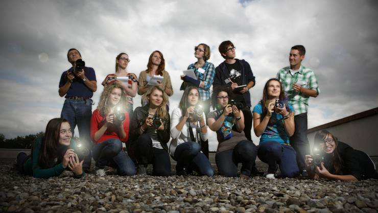 Das «Schreibende Dutzend» des az-Mediencamps