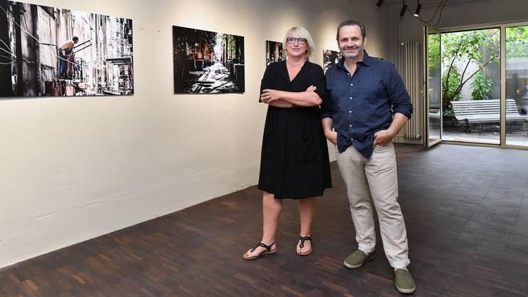 Marion Rauber und Daniel Schneider bei der Eröffnung des Lokals Mokka-Rubin vor zwei Jahren.