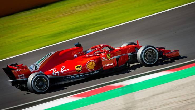 Sebastian Vettel ist schnell unterwegs