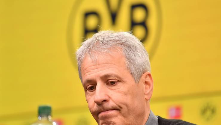 BVB-Coach Lucien Favre ringt bei der Analyse des 3:3 gegen Paderborn um Worte