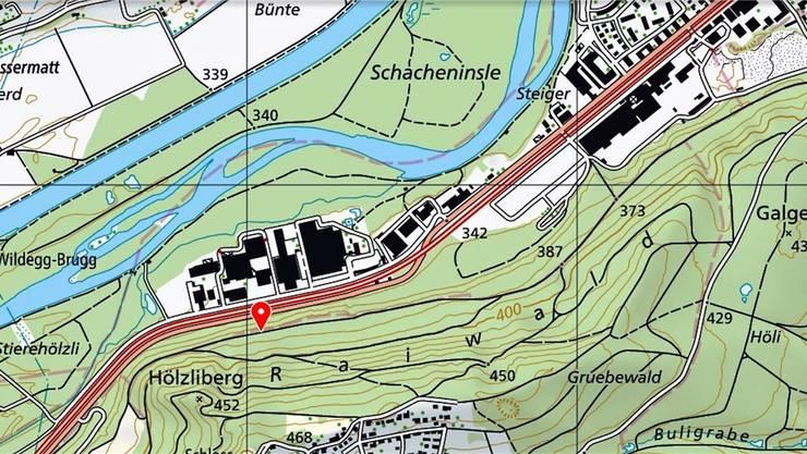 Der Vorfall hat sich auf einem Forstweg ereignet im Bereich der Gemeindegrenze zwischen Brugg und Habsburg. zvg