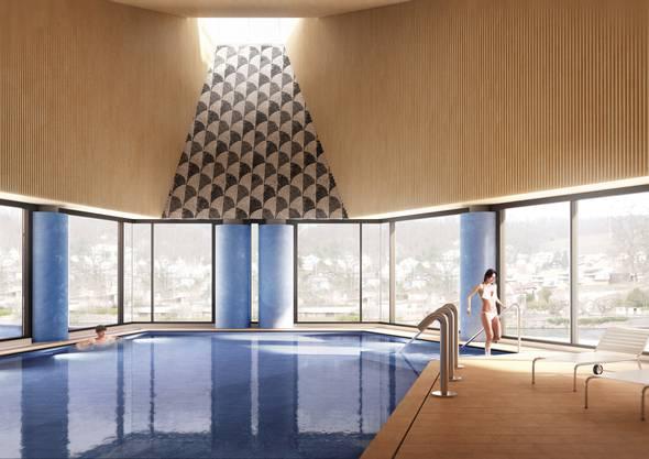 So soll das neue Thermalbad Baden aussehen. (Visualisierung)