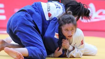 Fabienne Kocher verteidigt sich an der Judo-EM in Minsk lange Zeit gut (Archiv)