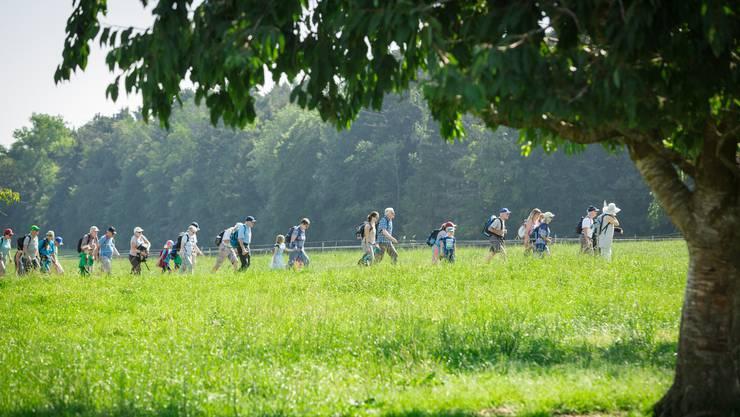 1. Etappe: 9 Kilometer von Endingen nach Niederweningen.