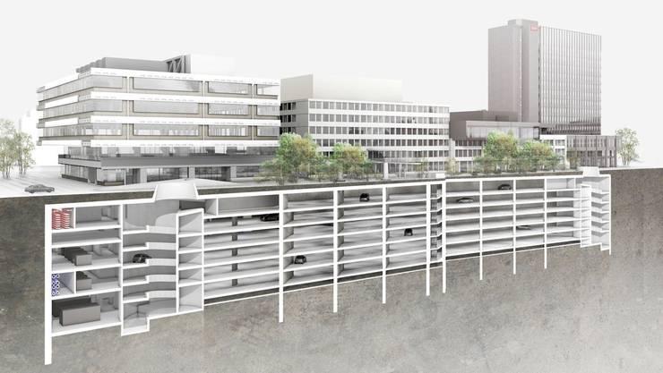 Mit der Tiefgarage für 350 Fahrzeuge kann SRF wieder die Umweltvorschriften der Stadt Zürich erfüllen.