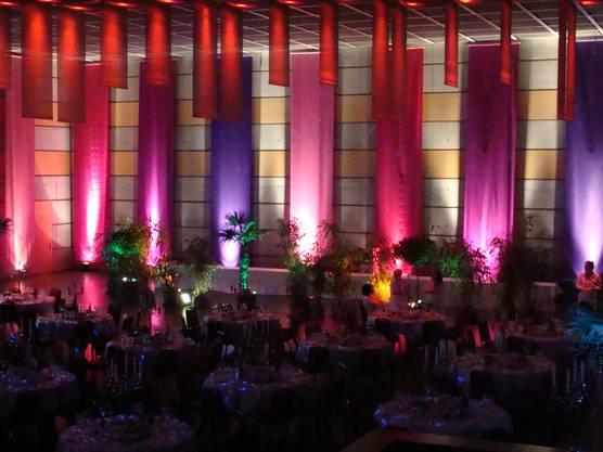 Die Eventhalle, stimmungsvoll geschmückt.
