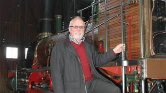 Gregor Tomasi mit der legendären Spanisch-Brötli-Bahn. MHU