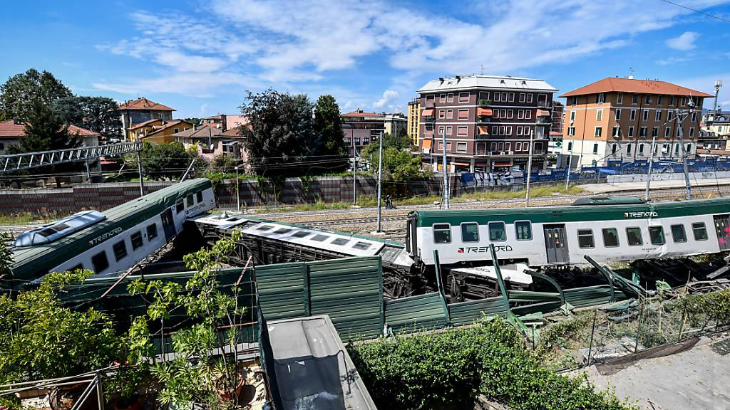 Zug in der Lombardei bei Mailand entgleist – drei Verletzte