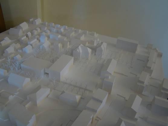 Modell der geplanten Schulanlage Zehntenhof