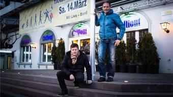 Peter Wyrsch (links) und Heiner Erni freuen sich bereits auf die nächste Tanznacht «Dance Evolution» im Chillout. kob