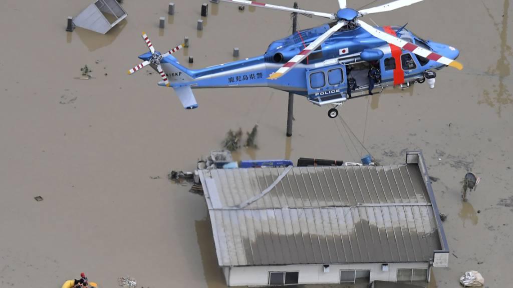 Tote bei schweren Unwettern in Japan