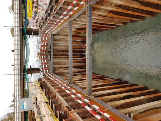 Ein Besuch auf der Baustelle für die neue Aarebrücke in Aarau (Stand: 28.10.2020)