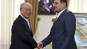 IAEA-Chef Yukiya Amano trifft den Sekretär des iranischen Sicherheitsrats, Ali Schamchani, in Teheran. Noch bleiben fünf Tage bis zum Ablauf der Frist für ein Atomabkommen mit dem Iran.