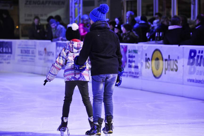 Das fünfte «Amrswil on Ice» geht am Sonntag zu Ende. (Bild: Thurgauer Zeitung/Donato Caspari)