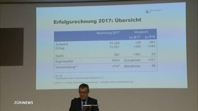 Kanton Zürich präsentiert Millionengewinn
