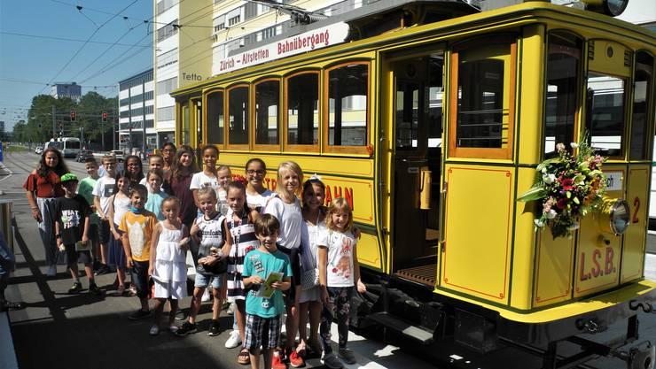 Die 20 Kinder hatten sich die Fahrt im «Lisebethli» verdient.