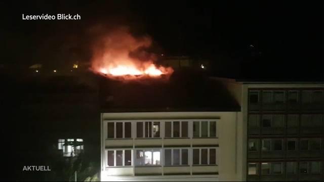 Hotelgäste mussten wegen Grossbrand evakuiert werden
